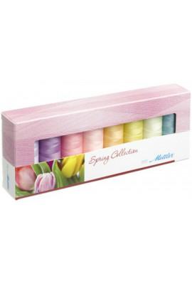 Coffret 8 fils à coudre polyester 200m Spring Mettler ® 8 coloris