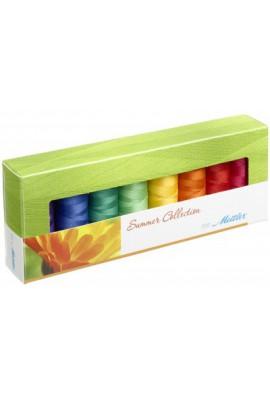 Coffret 8 fils à coudre polyester 200m Summer Mettler ® 8 coloris