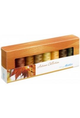 Coffret 8 fils à coudre polyester 200m Autumn Mettler ® 8 coloris