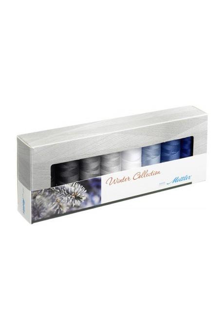 Coffret 8 fils à coudre polyester 200m Winter Mettler ® 8 coloris