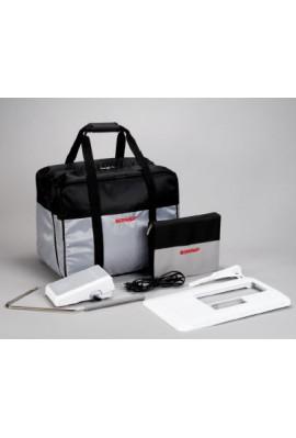 sac de transport bernina bleu ou gris et noir