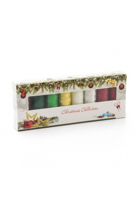 Coffret 8 fils à coudre polyester 200m Christmas Collection ® 8 coloris