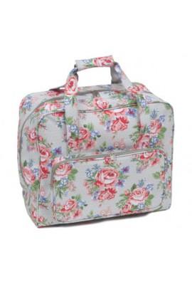 sac de transport machine à coudre PVC fleurs roses