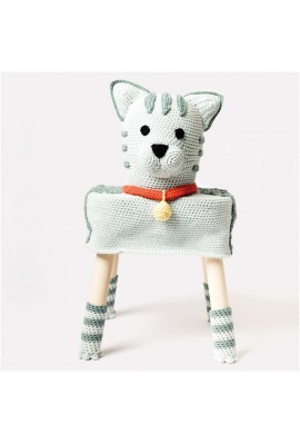 Kit Stool Cover - Le chat Greta Habillage de tabouret