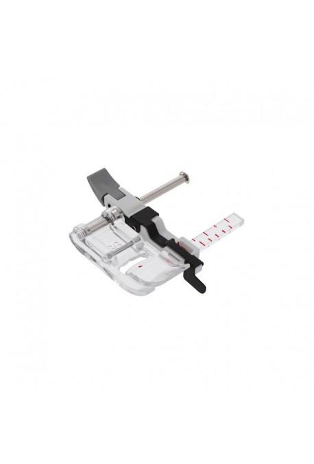 Pied avec JANOME guide de couture coulissant (mm et inch) pour 9mm