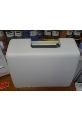 malette rigide en plastique blanc singer, silver, alfa, husqvarna, pfaff, top, etc...